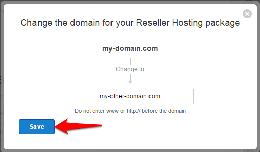 How do I change the Primary domain of my hosting plan
